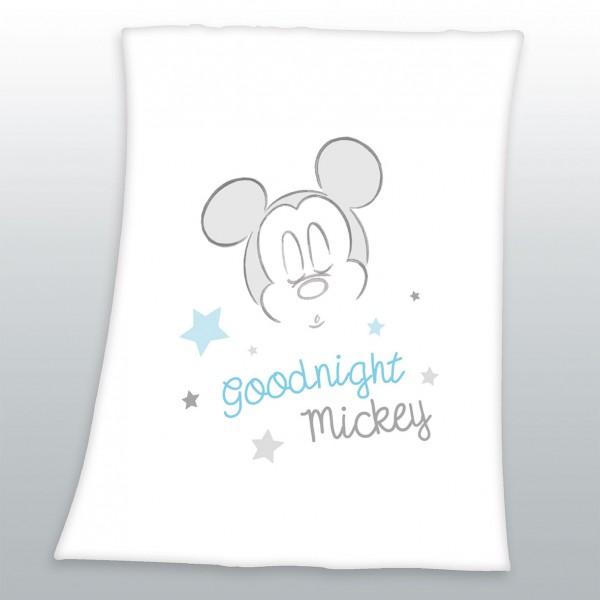 Flausch Decke 75x100 Goodnight Mickey