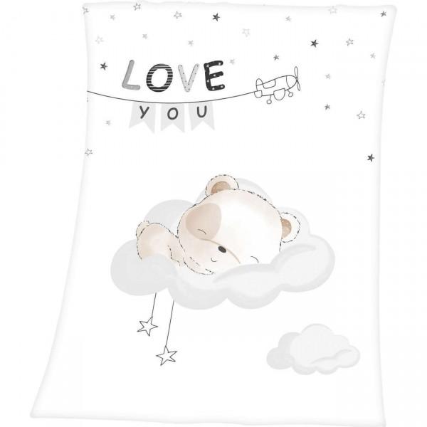 Soft Peach Decke 75x100 Sleeping Little Bear