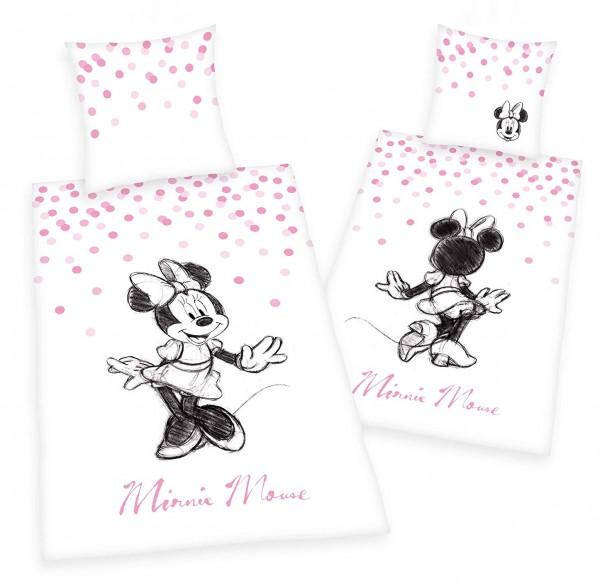 Bettwäsche Minnie Mouse 80x80 135x200 cm Renforcé