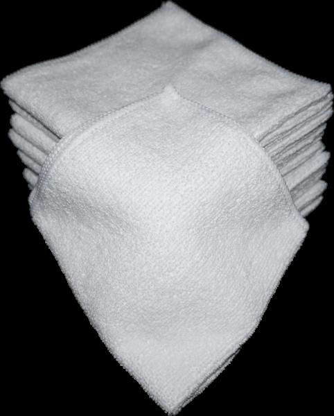 Microfaser Tücher 30x30 cm 10er Pack Weiss