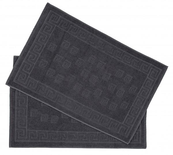 Medusa Duschvorleger Badematten - 50x80cm 700 g/m² - Frottee 2er Pack