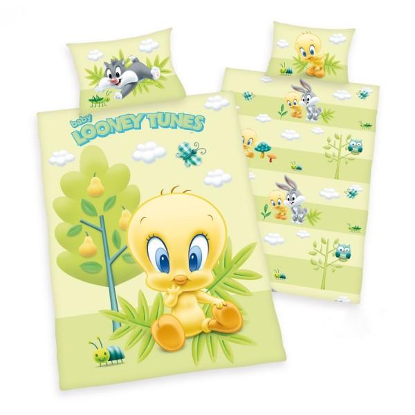 Bettwäsche Looney Tunes Tweety 40x60 100x135 cm