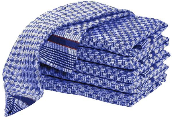 10 Premium Halbzwirn Grubentücher 45x90 cm blau 100% Baumwolle Gastronomie/Haushalt
