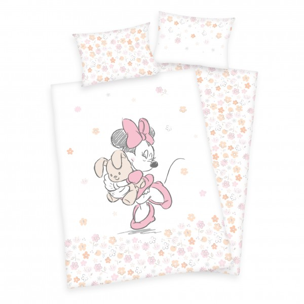 Bettwäsche Minnie Mouse Hase 40x60 100x135 cm