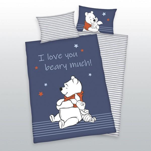 Bettwäsche Winnie the Pooh 40x60 100x135 cm Love You Beary Much