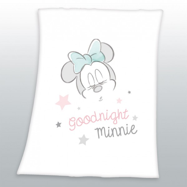 Flausch Decke 75x100 Goodnight Minnie