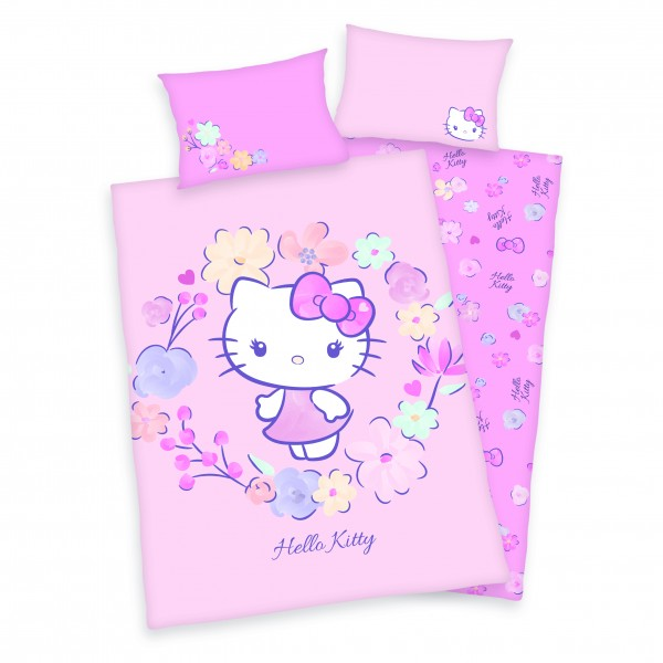 Bio Bettwäsche Hello Kitty 40x60 100x135 cm