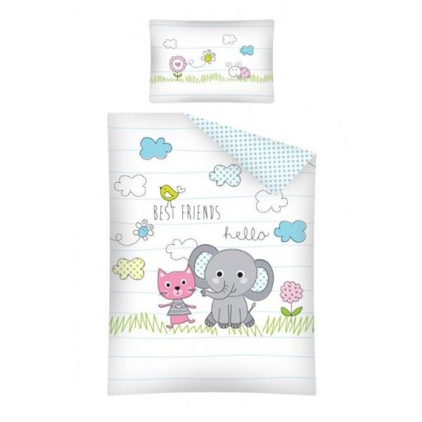 Bettwäsche Elefant Und Katze 40x60 100x135 cm Best Friends