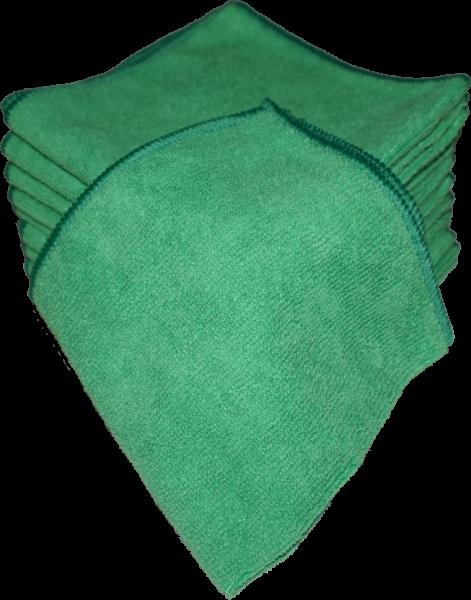 Microfaser Tücher 40x40 cm 10er Pack Grün