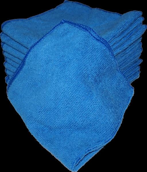 Microfaser Tücher 40x40 cm 10er Pack Blau