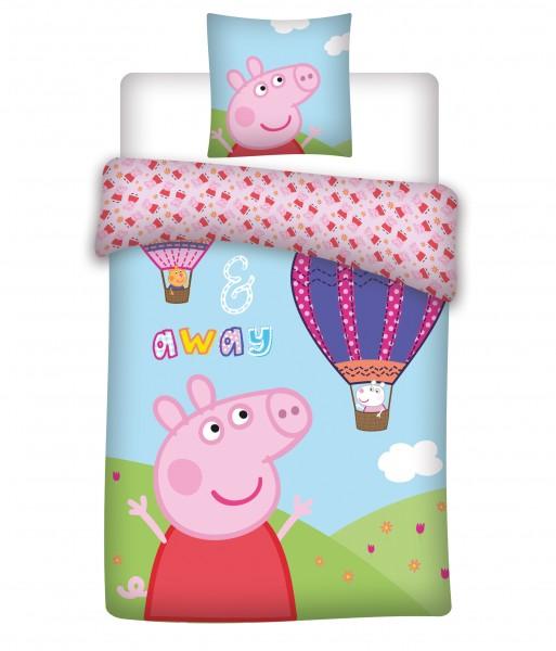 Bettwäsche Peppa Pig 40x60 100x135 cm Up and Away