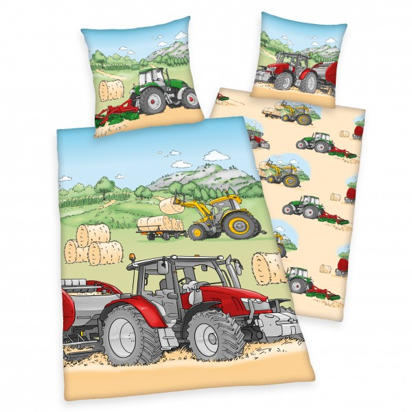 Bettwäsche Traktor 80x80 135x200 cm