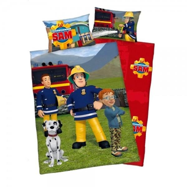Bettwäsche Feuerwehrmann Sam 40x60 100x135 cm Renforcé
