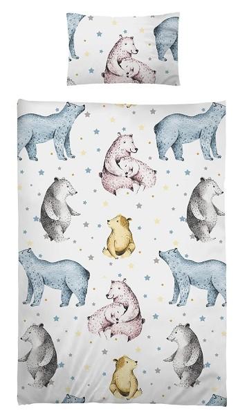 Bettwäsche Bärchen mit Sterne 40x60 100x135 cm