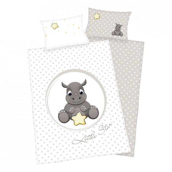 Bettwäsche Süßes Nashorn 40x60 100x135 cm