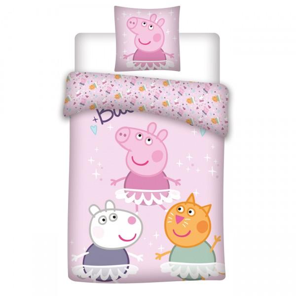 Bettwäsche Peppa Pig Ballerinas 40x60 100x135 cm
