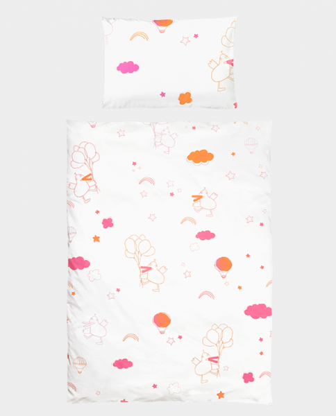 Bettwäsche Dancing Duck 40x60 100x135 cm pink orange