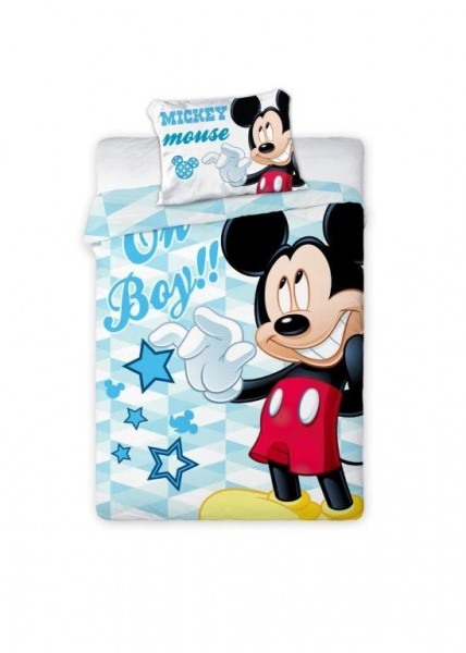 Bettwäsche Mickey Mouse Oh Boy 40x60 100x135 cm