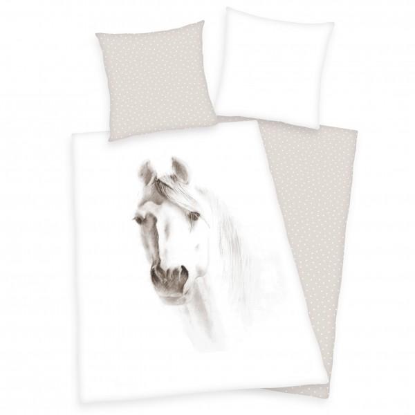 Bettwäsche Pferd Portrait 80x80 135x200 cm